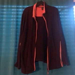Burgundy and Pink Active Jacket